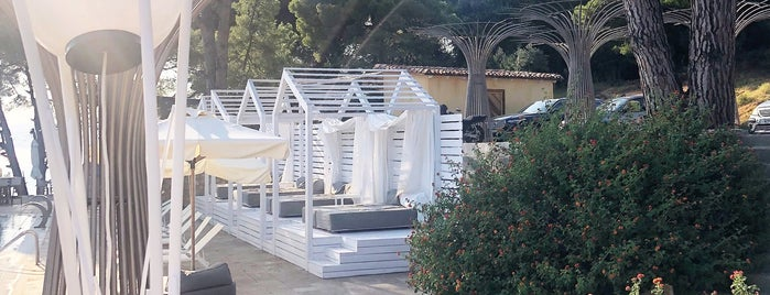 Nest Beach Bar is one of Skiathos island.