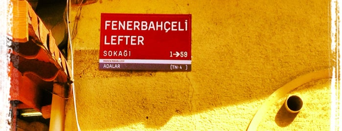 Fenerbahçeli Lefter Sokağı is one of Posti che sono piaciuti a Ferhat.