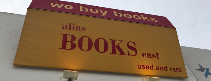 Alias Books East is one of KCRW.
