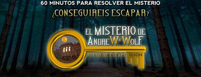 Escape Real: El Misterio de Andrew Wolf is one of Giovanna'nın Kaydettiği Mekanlar.