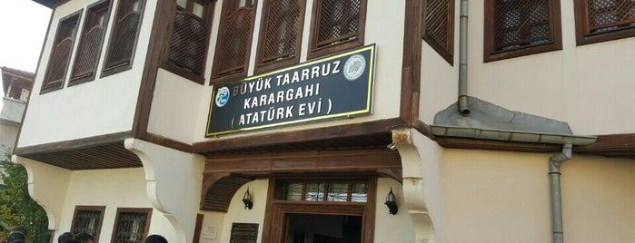 Büyük Taarruz Karargâhı (Atatürk Evi) is one of Kütahya.