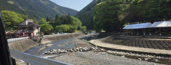 黒滝遊漁場 is one of Tempat yang Disukai Shigeo.