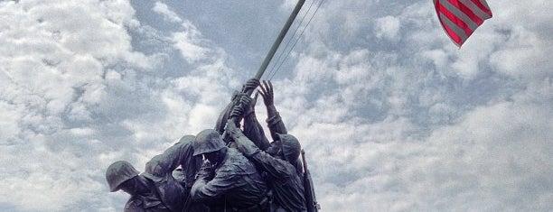 US Marine Corps War Memorial (Iwo Jima) is one of Washington DC.