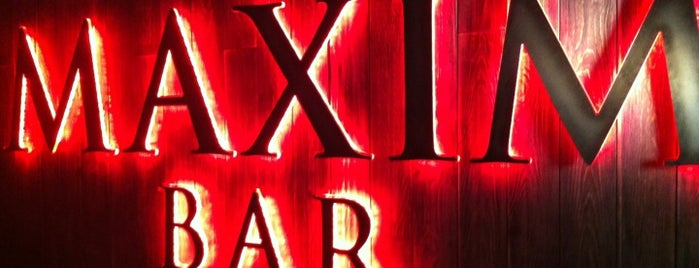 Maxim Bar is one of moscow bar.
