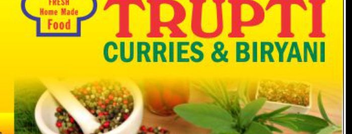 Trupti Curries & Biryani is one of Gespeicherte Orte von Lizzie.