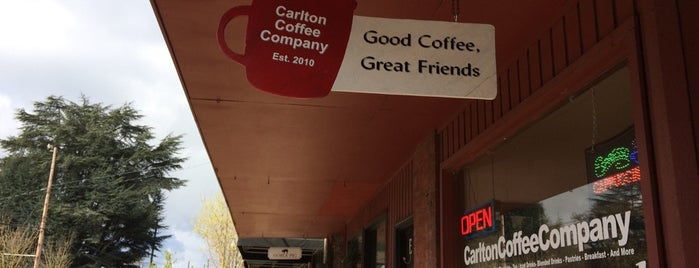 Carlton Coffee Company is one of OR wine trip.