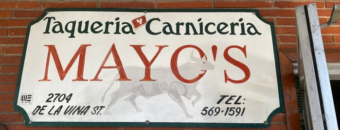 Mayo's Taqueria Y Carniceria is one of eats.