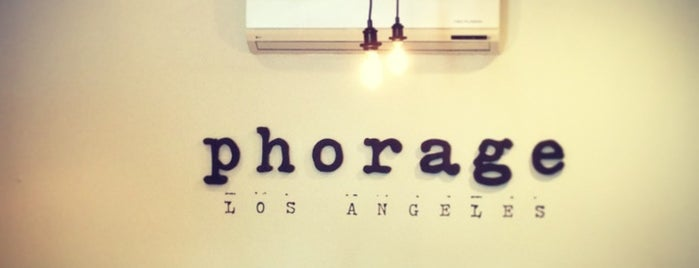 Phorage is one of LA to-do.