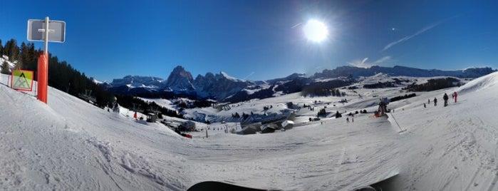 Seiser Alm is one of Dove sciare.