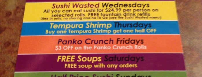 Sushi Queen is one of Restaurants me like Charlotte.