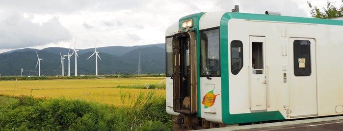 狩川駅 is one of JR 미나미토호쿠지방역 (JR 南東北地方の駅).