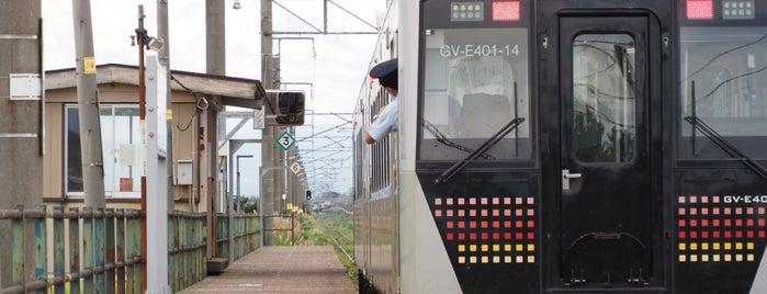 北余目駅 is one of JR 미나미토호쿠지방역 (JR 南東北地方の駅).