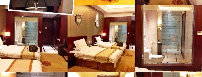 鼎鼎國際飯店 Dingding International Hotel is one of สถานที่ที่ Arie ถูกใจ.