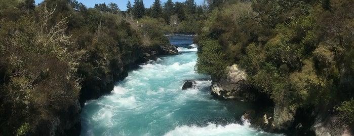 Huka Falls is one of Nuova Zelanda.
