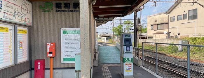 Showa Station is one of JR 미나미간토지방역 (JR 南関東地方の駅).