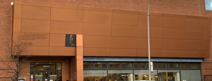 Queens Library at Langston Hughes Community Library and Cultural Center is one of IN TOWN.