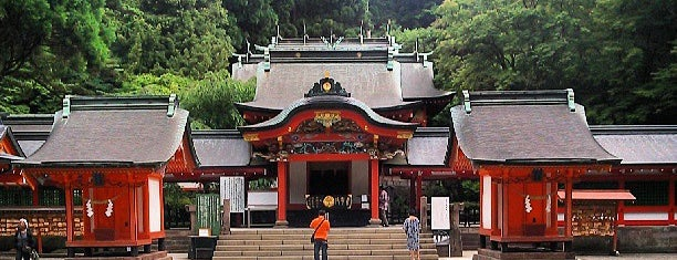 Kirishima Jingu Shrine is one of 西郷どんゆかりのスポット.