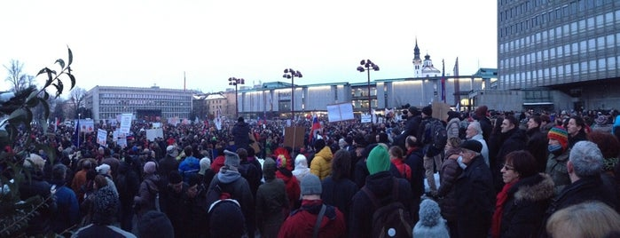 Trg republike is one of Ljubljana.