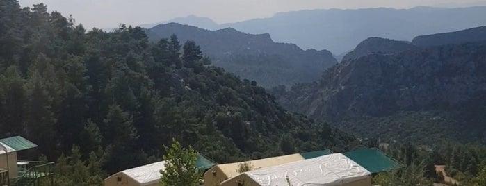Sütçüler Sarıçam Kartal Yuvası Tesisleri is one of Akdeniz gezisi 2019.
