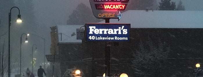 Ferrari's Crown Resort is one of Northern CALIFORNIA: Vintage Signs.
