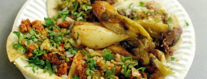 La Naranja Taqueria is one of A Taco Crawl of Los Angeles.