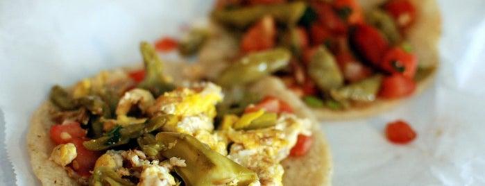 La Azteca Tortilleria is one of A Taco Crawl of Los Angeles.