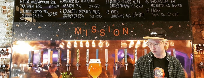 Mission is one of Moscow restaurants..