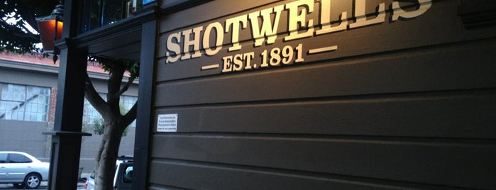Shotwell's is one of Happy Hour.