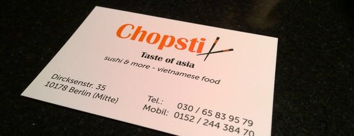 Chopstix Berlin is one of Favoriten.