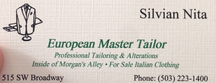 European Master Tailor is one of Eater PDX.