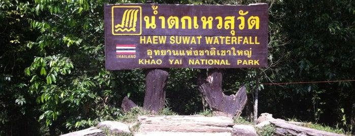 Haew Suwat Waterfall is one of Khao Yai.