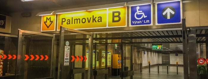 Metro =B= Palmovka is one of Posti che sono piaciuti a Miloslav.