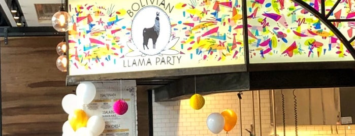 Bolivian Llama Party @ Gotham Market At The Ashland is one of The Black Notebook.