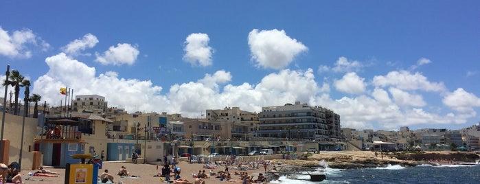 Buggiba Beach is one of VISITAR Malta.