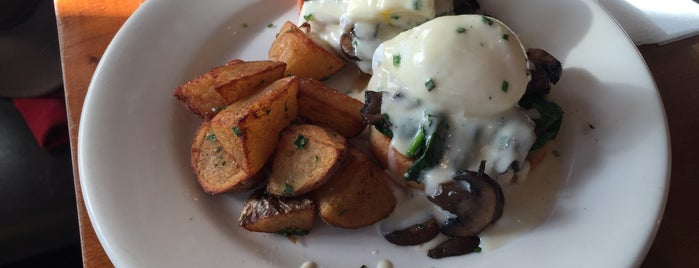 Mission Beach Cafe is one of America's 50 Best Eggs Benedict Dishes.