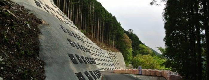 坂瀬崩落跡 is one of 四国の酷道・険道・死道・淋道・窮道.