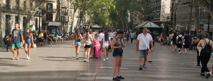 Rambla de Canaletas is one of Barcelona, Spain.
