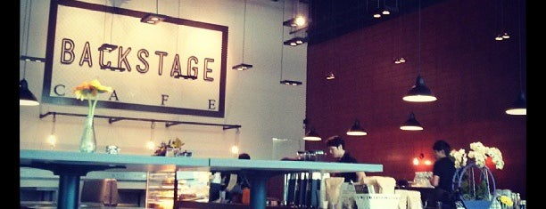 Backstage Cafe is one of Cafés to visit.