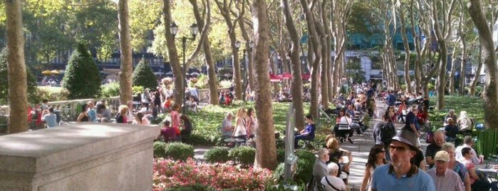 Bryant Park is one of Places to go when in New York.