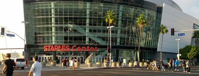 STAPLES Center is one of Sports Stadiums/Arenas/Parks.