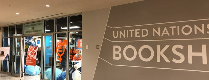 United Nations Bookshop is one of bookstores.