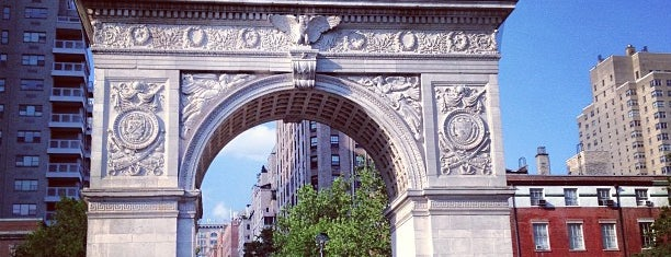 Washington Square Park is one of NY city spots.
