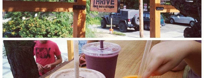 Thrive Juice Bar & Kitchen is one of Lugares favoritos de Rachel.