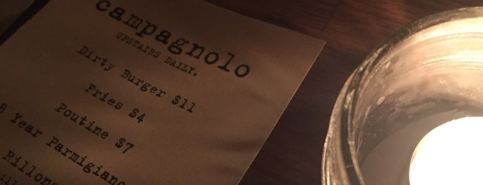 Upstairs at Campagnolo is one of Favorite Spots in Vancouver.