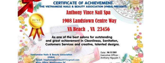 Anthony Vince Nail Spa is one of Tempat yang Disukai Isabella.