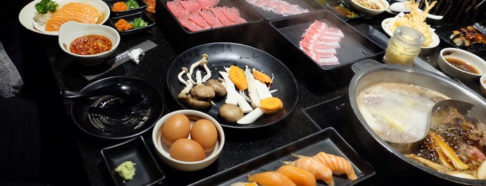 Masaru Shabu & Sushi Buffet is one of Lugares favoritos de Huang.