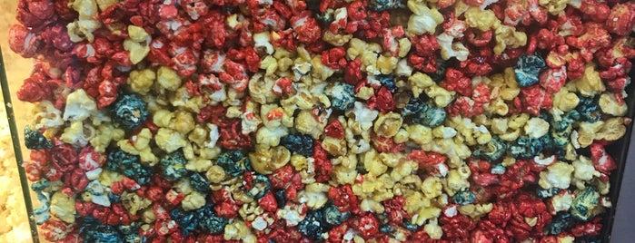 The Adirondack Popcorn Co. is one of Lake Placid.