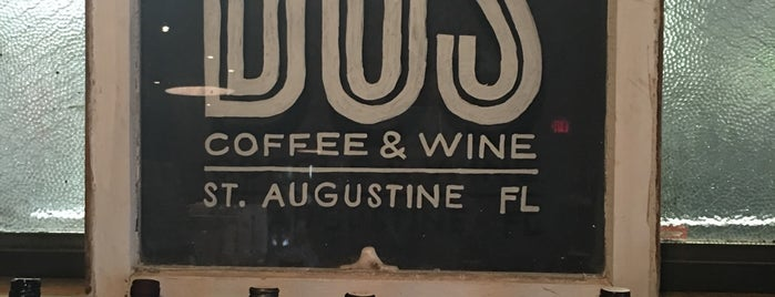 Dos Coffee & Wine is one of St augustine.