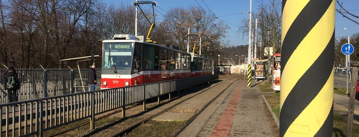 Lipová (tram, bus) is one of Davidさんのお気に入りスポット.