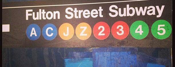 MTA Subway - Fulton St (A/C/J/Z/2/3/4/5) is one of DINA4NYC.